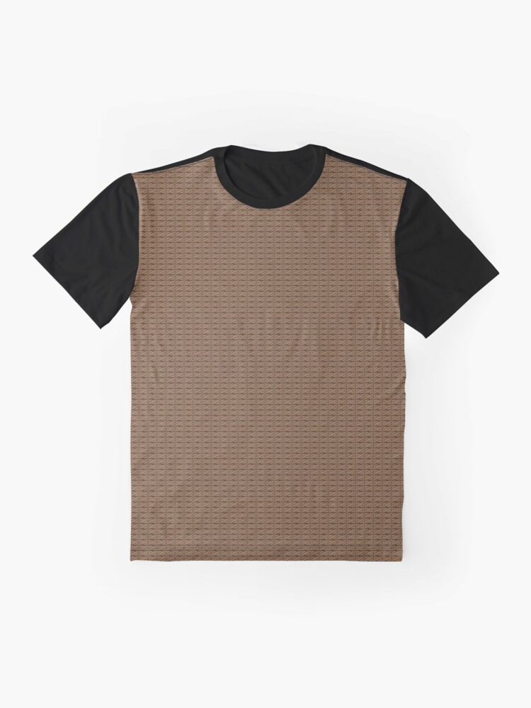 Alternate view of Simple Knotwork in Tan on Brown Graphic T-Shirt