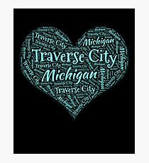 I Love Traverse City Photographic Print