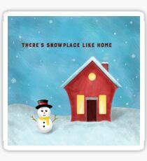 Warm Winter Home Sticker