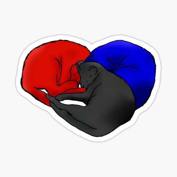 Polyamory Cats Sticker