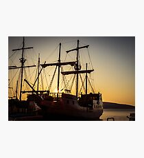 A sailer in the bay of Senj, Croatia Photographic Print
