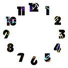 Graffiti 10 Numbers Overlay Wall Clock by Alan Harman