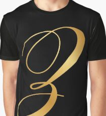 luxury gold letter Z Graphic T-Shirt
