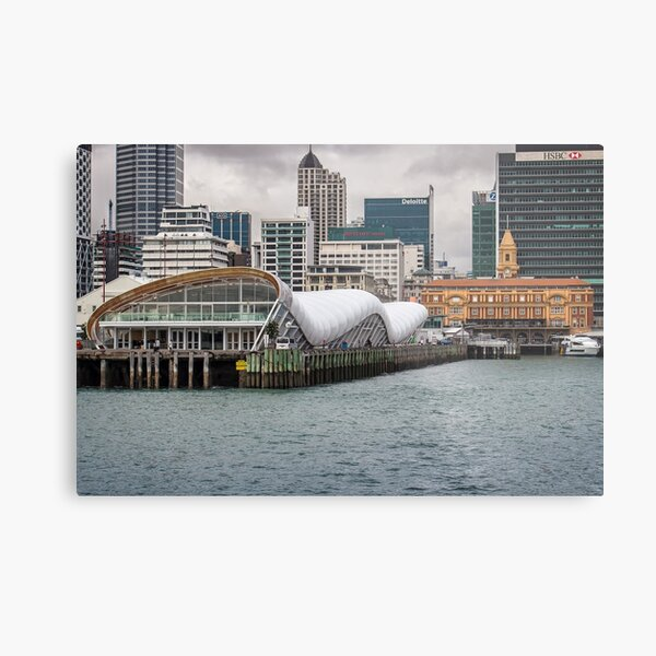 Auckland ferry building and wharf Metal Print