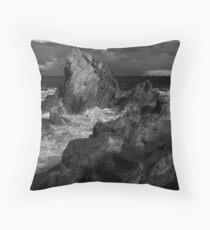 Rugged Coastline Throw Pillow