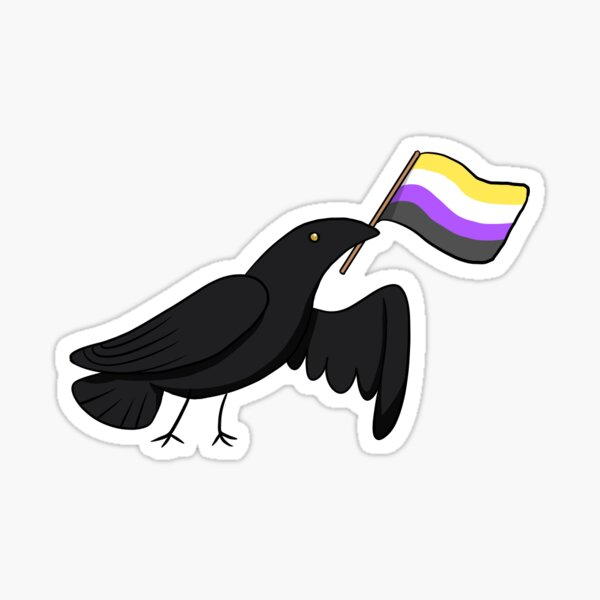 Pride Corvids - Nonbinary Sticker