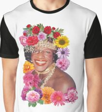 Blumenreich Marsha P. Johnson Grafik T-Shirt