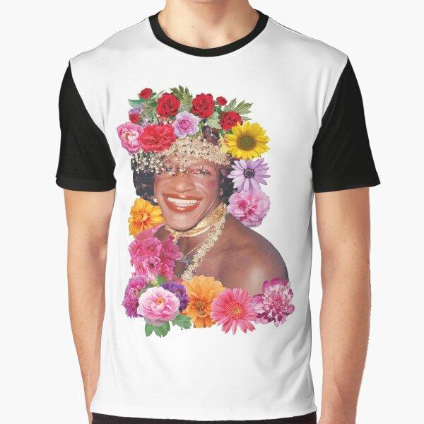 Blumenreich Marsha P. Johnson Grafik T-Shirt
