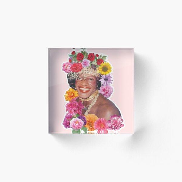 Flowerful Marsha P. Johnson Acrylic Block