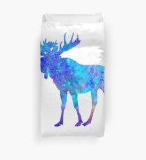 Moose Watercolor Art Duvet Cover