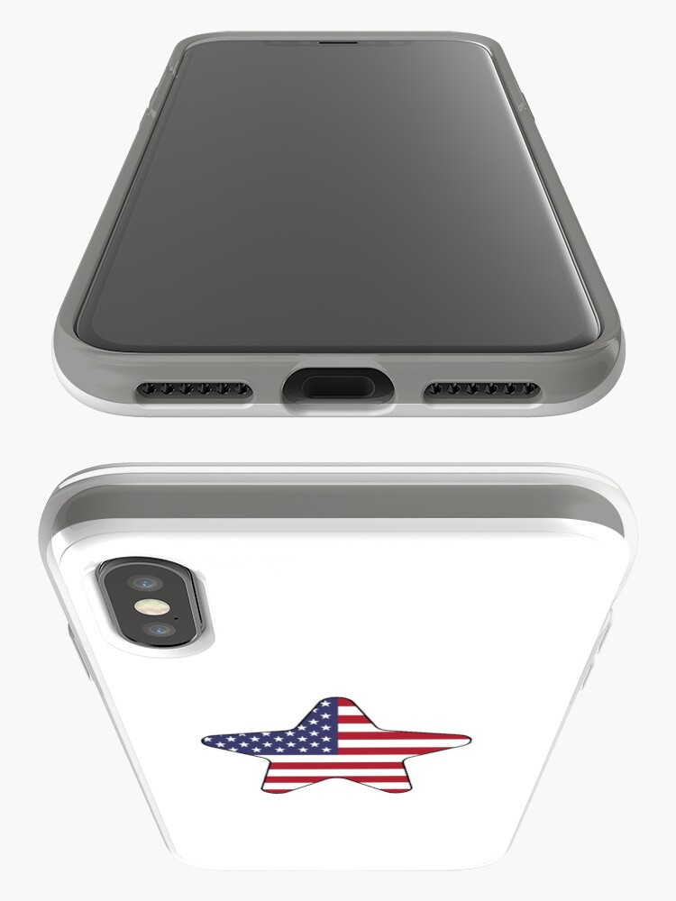 Vista alternativa de Funda y vinilo para iPhone American Flag Starfish Happy 4th of July