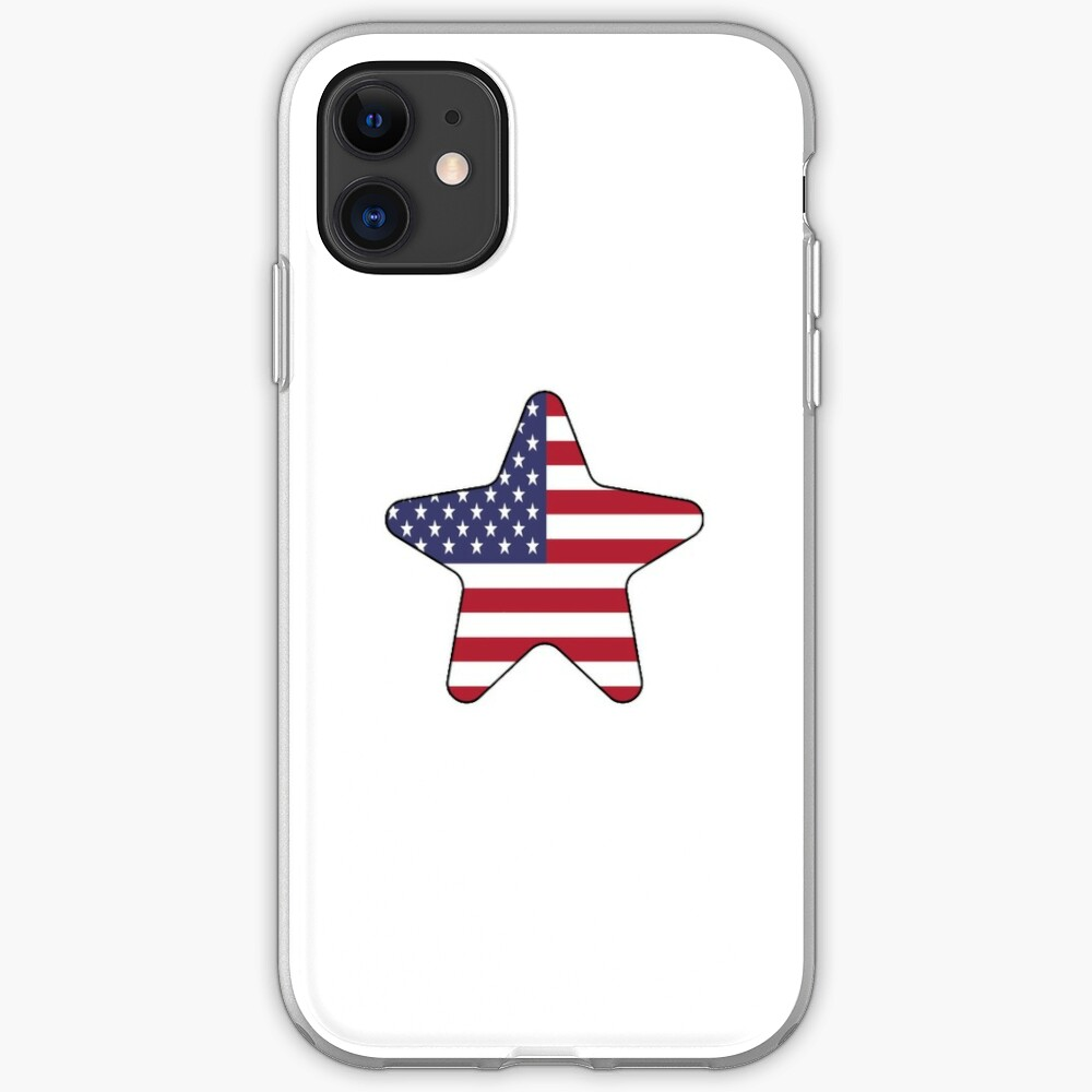 American Flag Starfish Happy 4th of July Funda y vinilo para iPhone