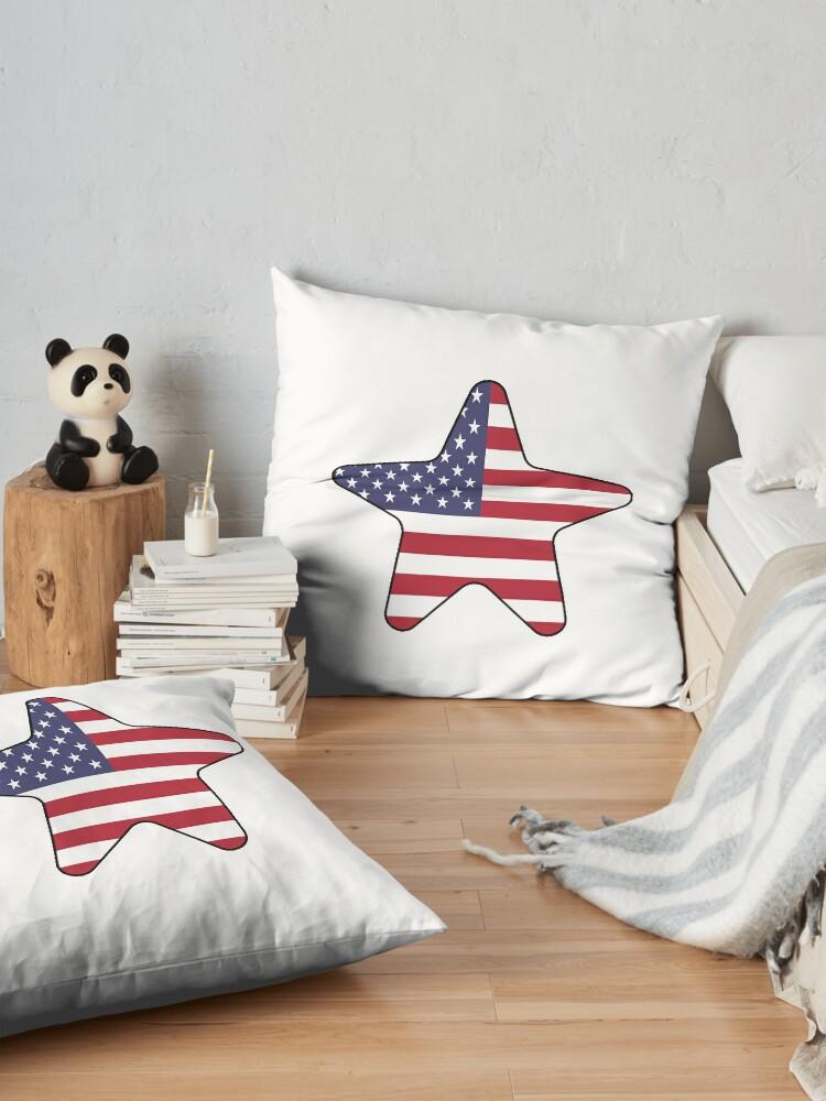 Vista alternativa de Cojines de suelo American Flag Starfish Happy 4th of July