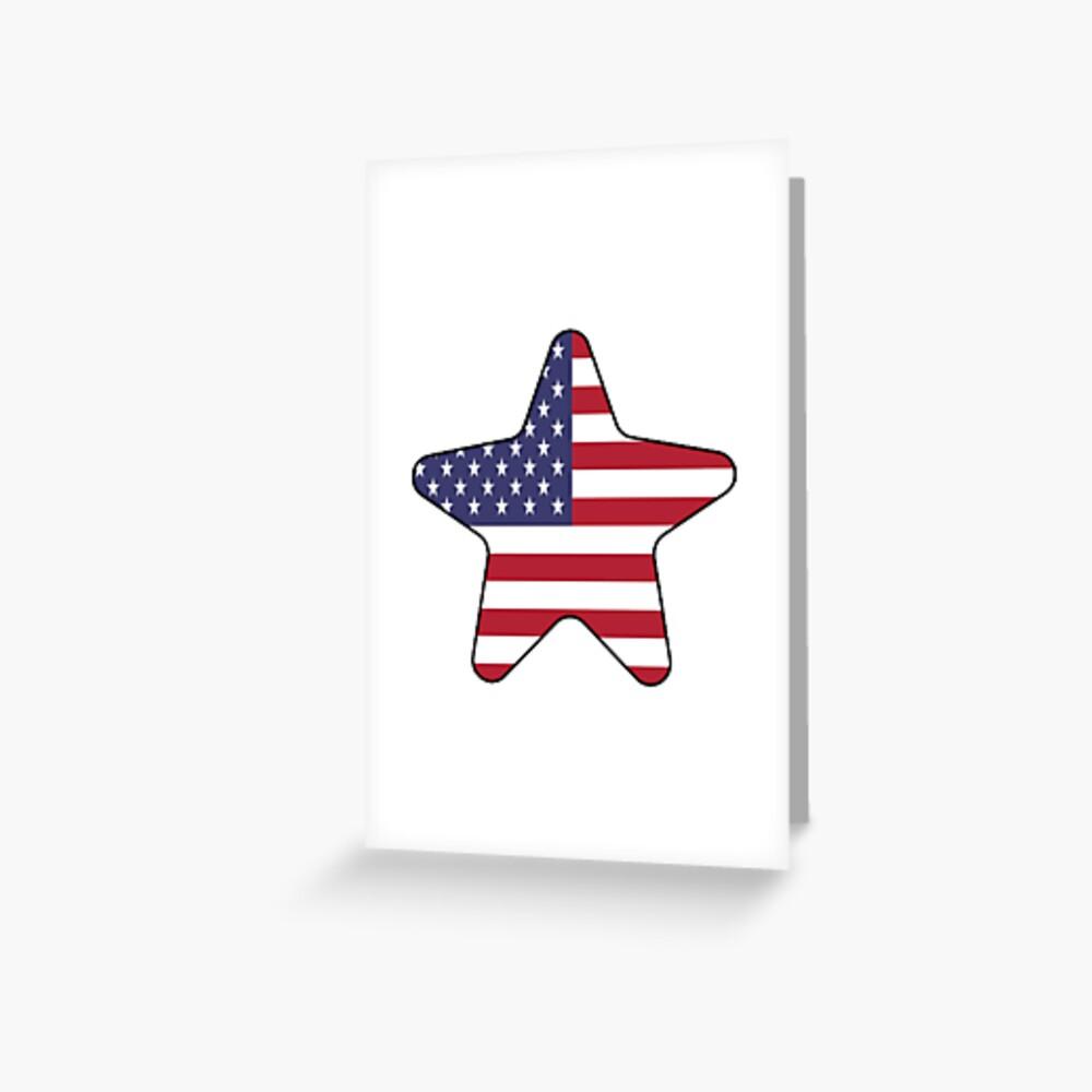 American Flag Starfish Happy 4th of July Tarjetas de felicitación
