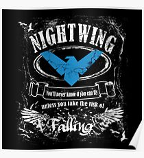 nightwing - label whiskey style Poster