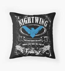 nightwing - label whiskey style Throw Pillow
