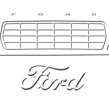 1979 Bronco/F-Series Grille, White Print by TheOBSApparel