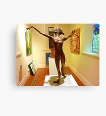 Elegant Sculpture at Daylesford Convent Gallery..Vic. Canvas Print