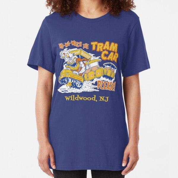 Watch the Tram Car Please! Slim Fit T-Shirt