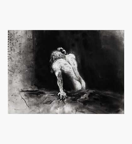 Morning Sex, Sadness; charcoal and chalk Photographic Print