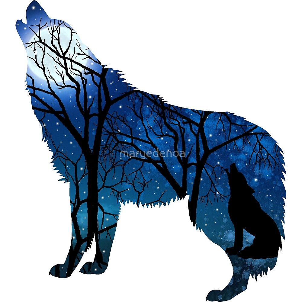 Howling Wild Wolf by maryedenoa