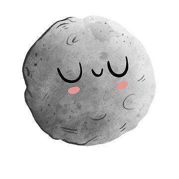 Cute Night Moon Illustration by piratart