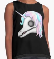 My Little Dead Unicorn | Rainbow Unicorn Skull | Black Sleeveless Top