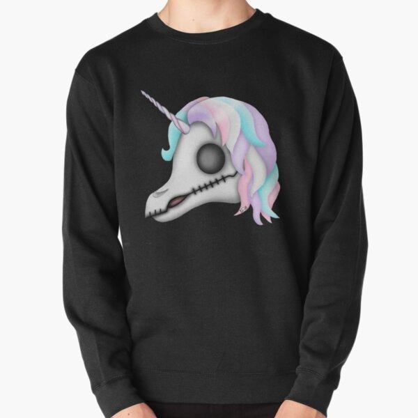My Little Dead Unicorn | Rainbow Unicorn Skull | Black Pullover Sweatshirt