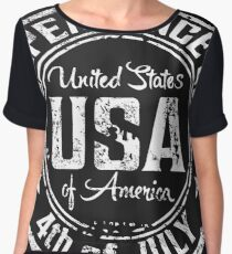 USA 4th of July Independence Day Chiffon Top