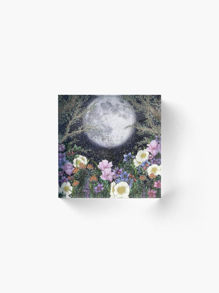 Alternate view of Midnight in the Garden II Acrylic Block
