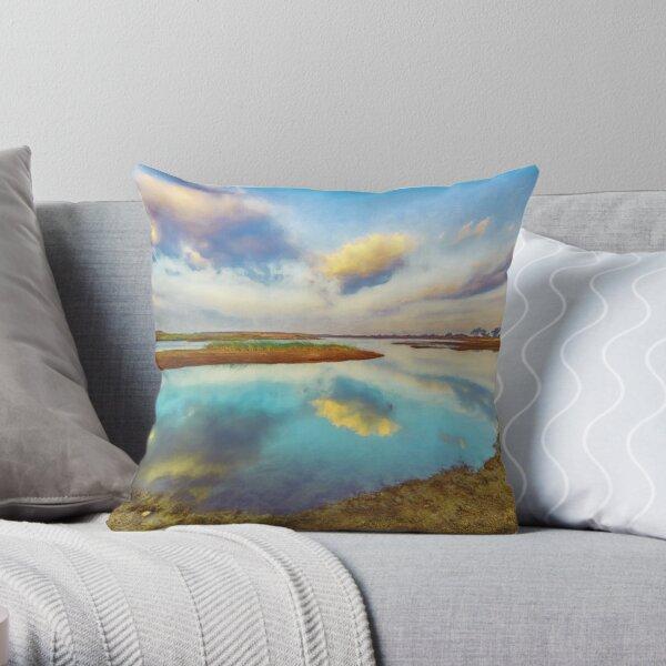 Machal Lake Throw Pillow