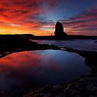 Red'N'Pink Pulpit Dawn by Robert Mullner