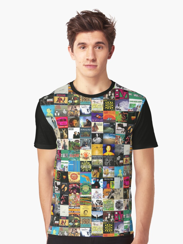 NZ Albums Graphic T-Shirt Front