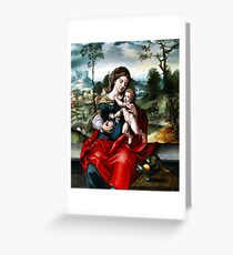 Virgin with Child Greeting Card