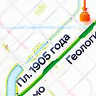 Ekaterinburg metro map poster by Pasha Omelekhin