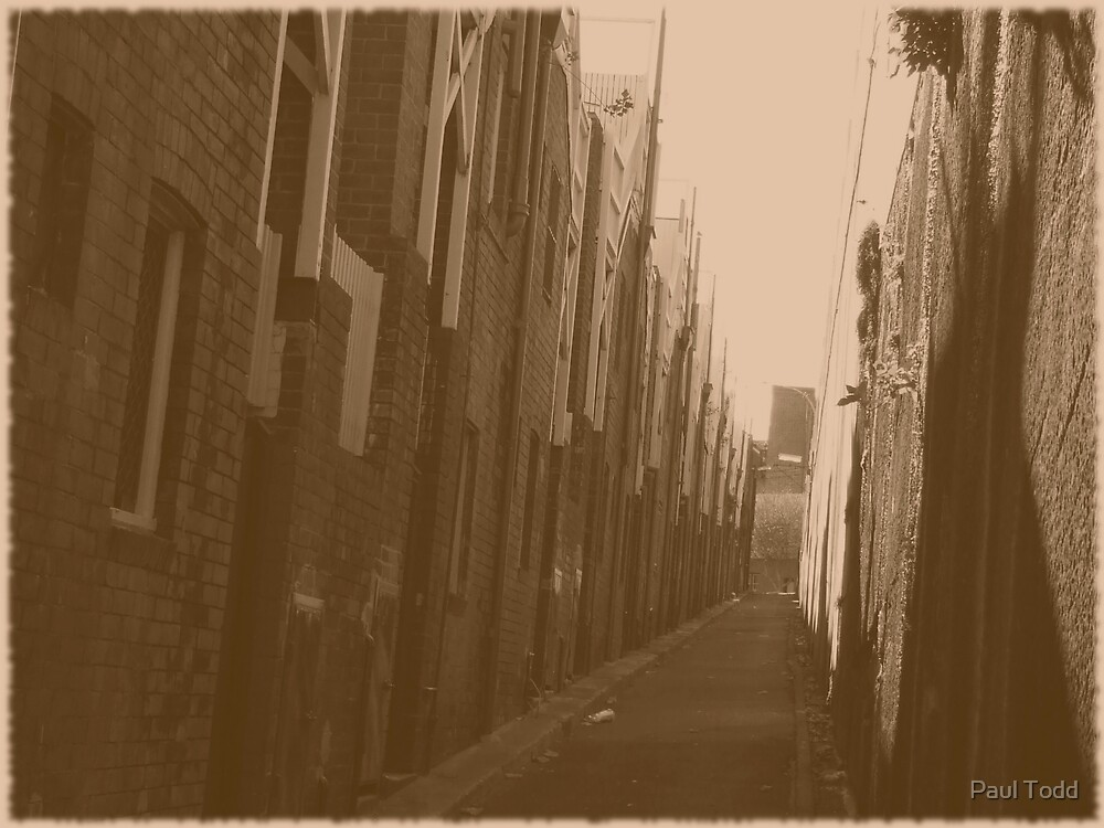 Alley - old by Paul Todd