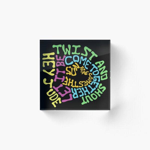 Beatles Songs Acrylic Block