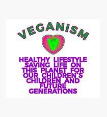 VEGANISM: HEALTHY LIFESTYLE. Photographic Print