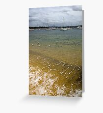 Swimming in the Bay Greeting Card