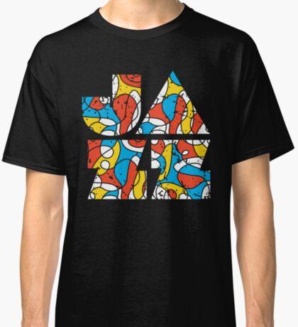 Colorful Jazz Typographic Design Classic T-Shirt