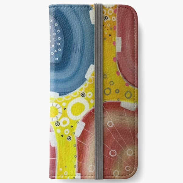 Colorful abstract -yellow iPhone Wallet