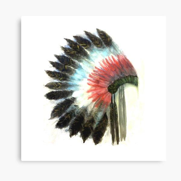 Native American Headress Canvas Print