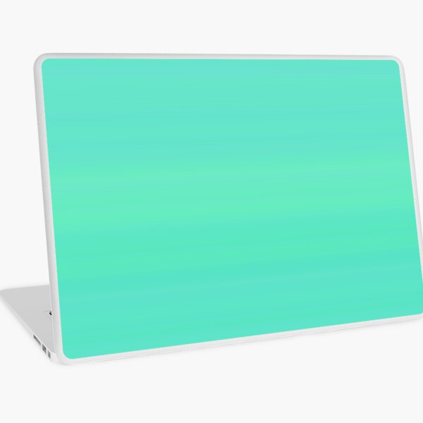 233. Green-Turquoise Stripes Laptop Skin