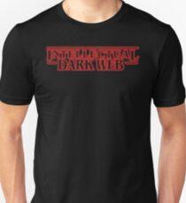 Intellektuelles dunkles Netz Shirt | Fremder Slim Fit T-Shirt