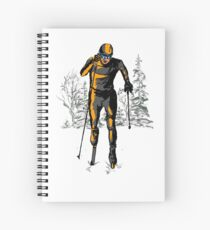 Cross country skiing Spiral Notebook