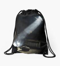 Light on the Past Drawstring Bag