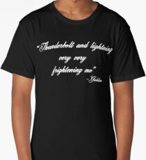 Thunderbolt and Lightning Very Frightening Funny music Design Long T-Shirt