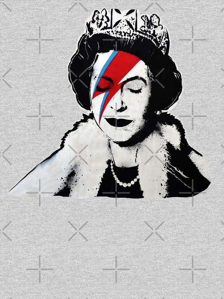 Banksy UK England Queen Elisabeth rockband face makeup by iresist