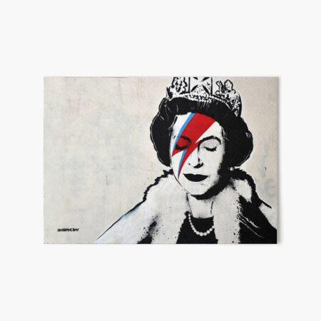 Banksy UK England Queen Elisabeth rockband face makeup Art Board Print