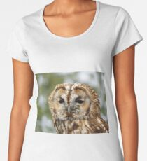 Cute Tawny Owl Women's Premium T-Shirt